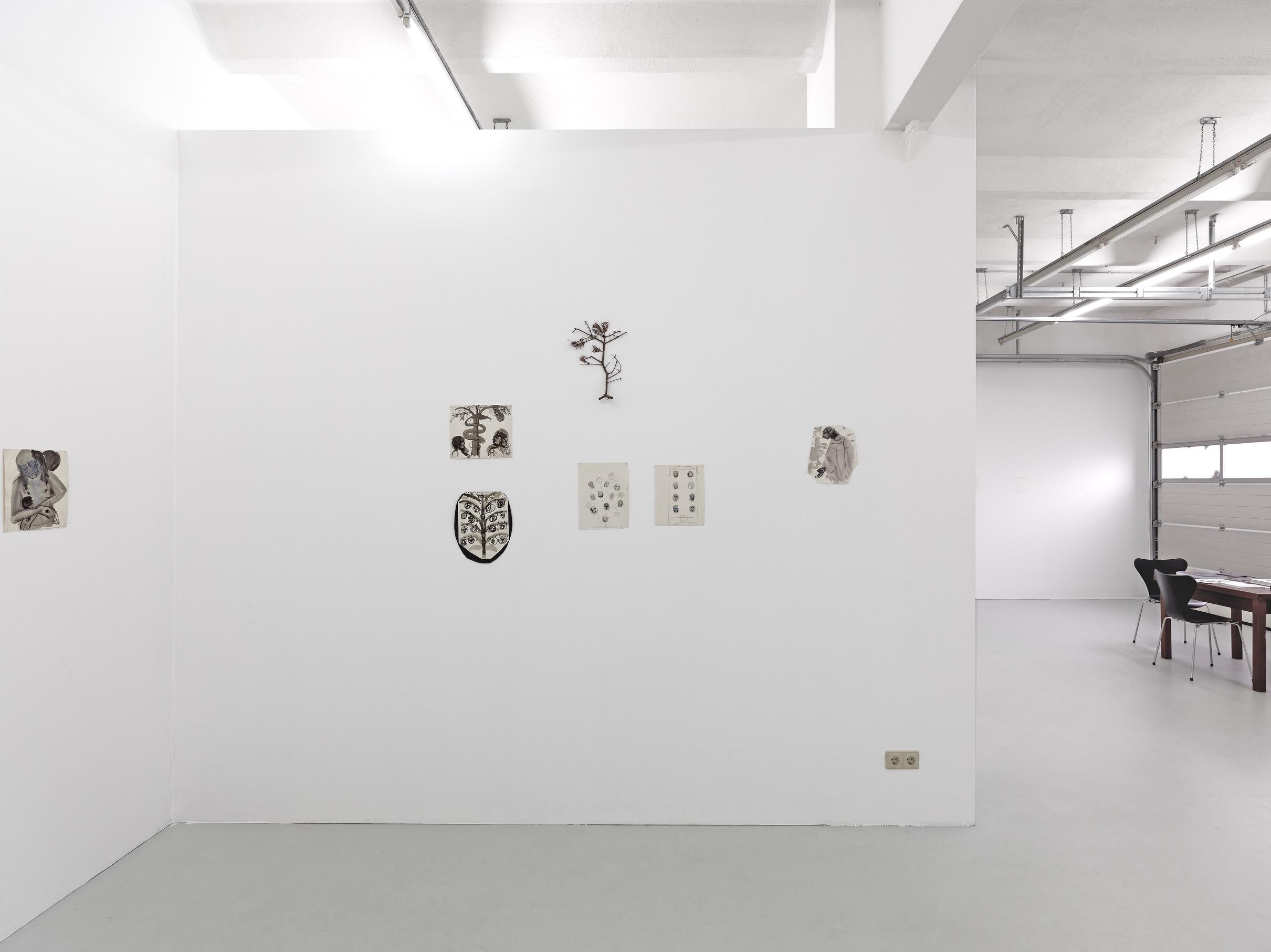 <i>Marlene Dumas, Die Entstehung eines Altarbildes, in Zusammenarbeit mit Jan Andriesse und Bert Boogaard</i>, Galerie Gebr. Lehmann, Dresden, Germany, 2017 (Solo exhibition with Jan Andriesse and Bert Boogaard)