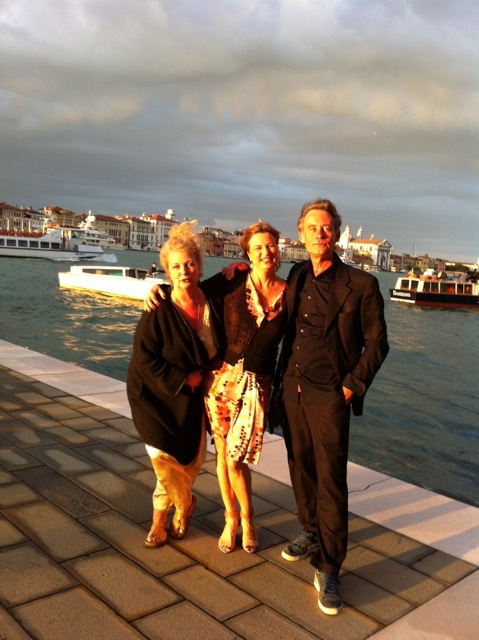 Team of Studio Dumas in Venice. From lef to right: Marlene, Jolie and Rudolf